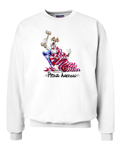Wire Fox Terrier - Proud American - Sweatshirt