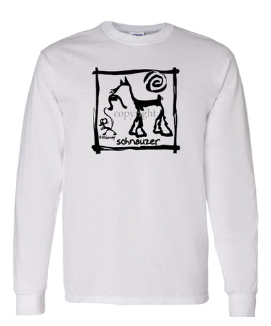 Schnauzer - Cavern Canine - Long Sleeve T-Shirt