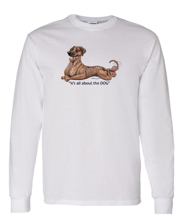 Rhodesian Ridgeback - All About The Dog - Long Sleeve T-Shirt