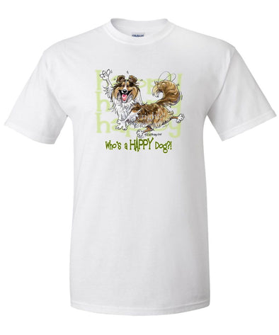 Shetland Sheepdog - Who's A Happy Dog - T-Shirt