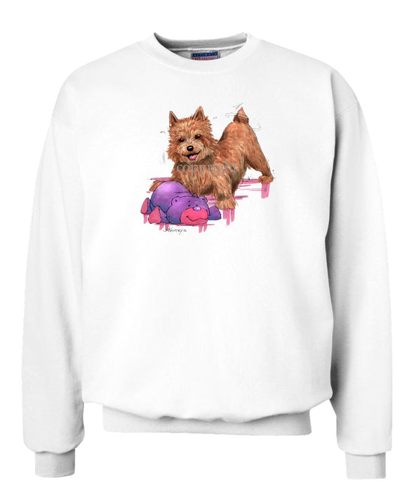 Norwich Terrier - With Stuffed Bear - Caricature - Sweatshirt