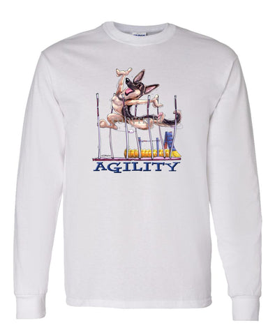 German Shepherd - Agility Weave II - Long Sleeve T-Shirt