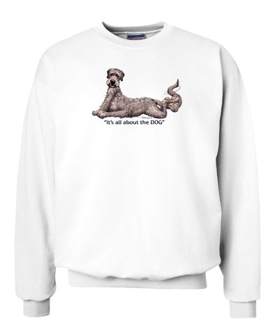 Irish Wolfhound - All About The Dog - Sweatshirt