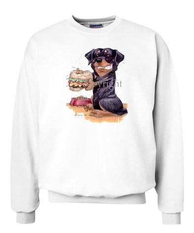 Rottweiler - Cheesburger - Caricature - Sweatshirt