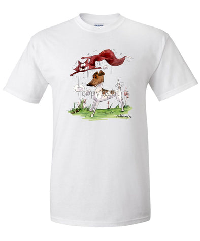 Smooth Fox Terrier - With Fox - Caricature - T-Shirt