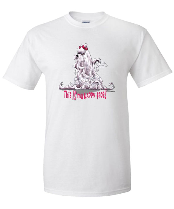 Maltese - Who's A Happy Dog - T-Shirt