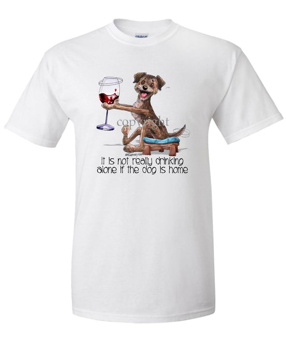 Border Terrier - It's Not Drinking Alone - T-Shirt