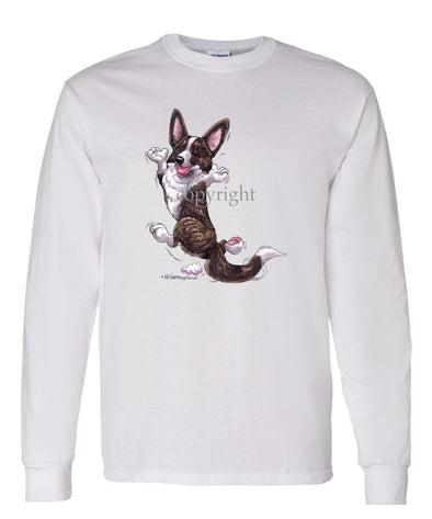 Welsh Corgi Cardigan - Happy Dog - Long Sleeve T-Shirt