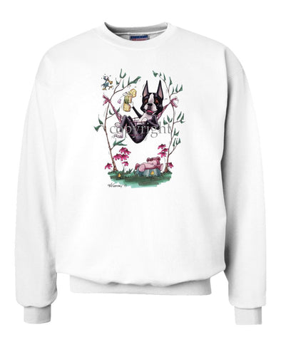 Boston Terrier - Hammock - Caricature - Sweatshirt