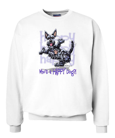 Scottish Terrier - Who's A Happy Dog - Sweatshirt