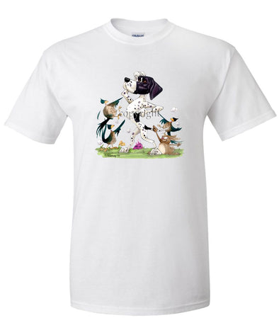 Pointer - Pheasants Pointing - Caricature - T-Shirt