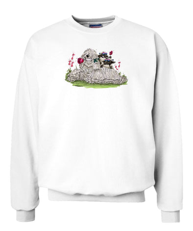 Komondor - With Rose - Caricature - Sweatshirt