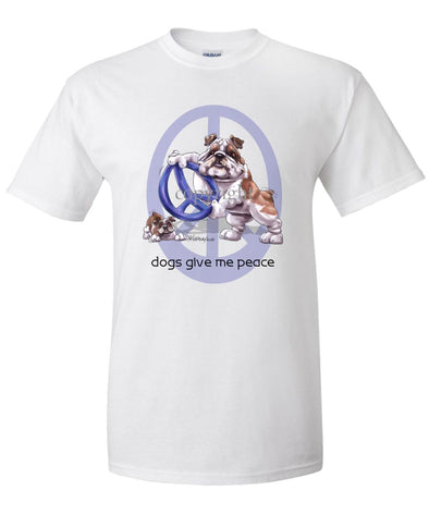 Bulldog - Peace Dogs - T-Shirt
