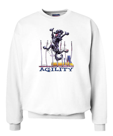 Flat Coated Retriever - Agility Weave II - Sweatshirt