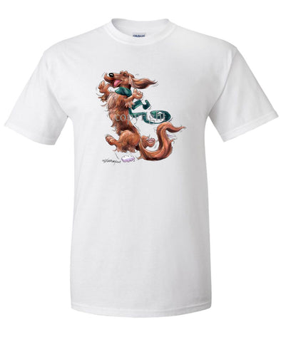 Dachshund  Longhaired - Happy Dog - T-Shirt