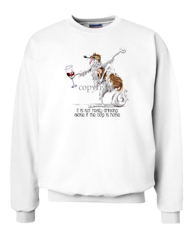 Borzoi - It's Drinking Alone 2 - Sweatshirt