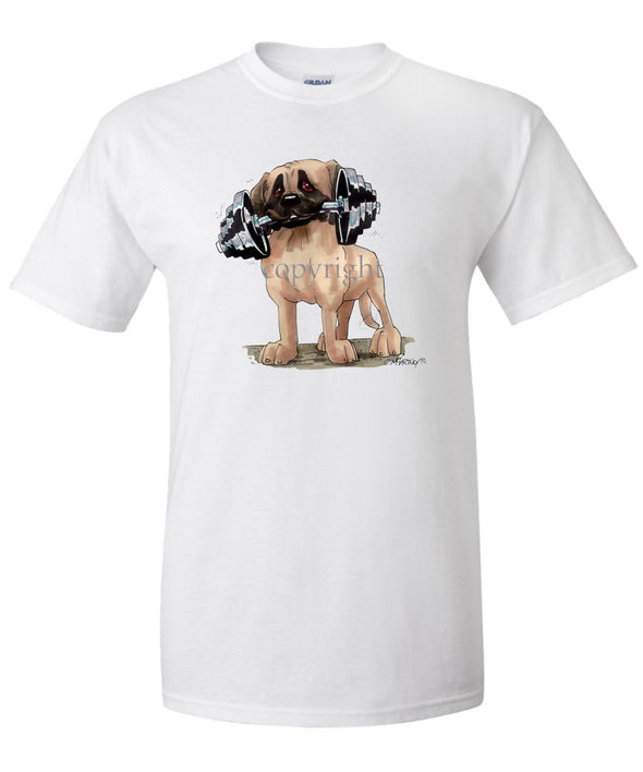 Mastiff - With Dumbell - Caricature - T-Shirt