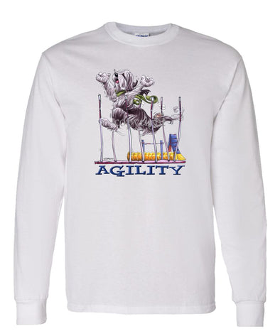 Bearded Collie - Agility Weave II - Long Sleeve T-Shirt