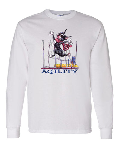 Boston Terrier - Agility Weave II - Long Sleeve T-Shirt