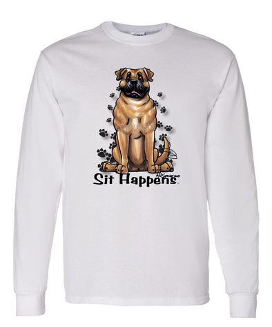 Bullmastiff - Sit Happens - Long Sleeve T-Shirt