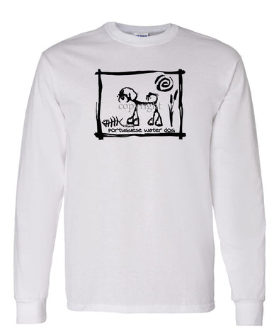 Portuguese Water Dog - Cavern Canine - Long Sleeve T-Shirt