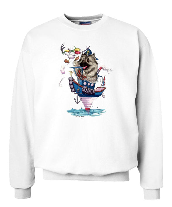 Keeshond - Tugboat - Caricature - Sweatshirt
