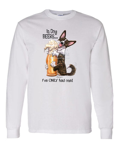 Welsh Corgi Cardigan - Dog Beers - Long Sleeve T-Shirt