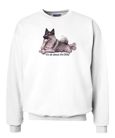 Norwegian Elkhound - All About The Dog - Sweatshirt