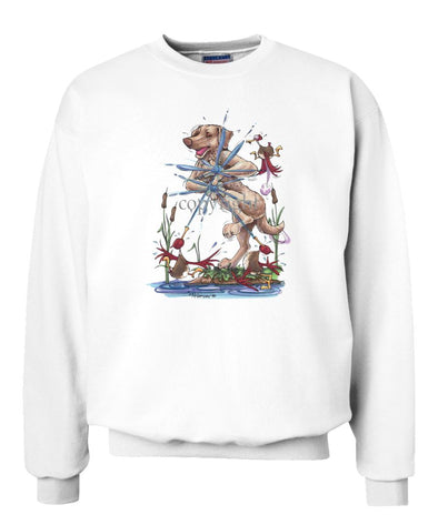 Chesapeake Bay Retriever - Ducks Squirting - Caricature - Sweatshirt