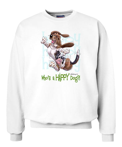 Basset Hound - Who's A Happy Dog - Sweatshirt