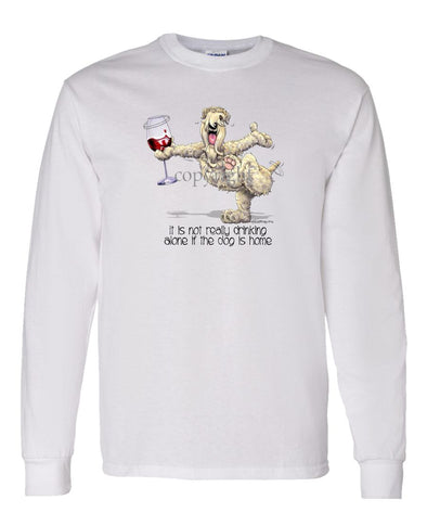 Soft Coated Wheaten - It's Drinking Alone 2 - Long Sleeve T-Shirt