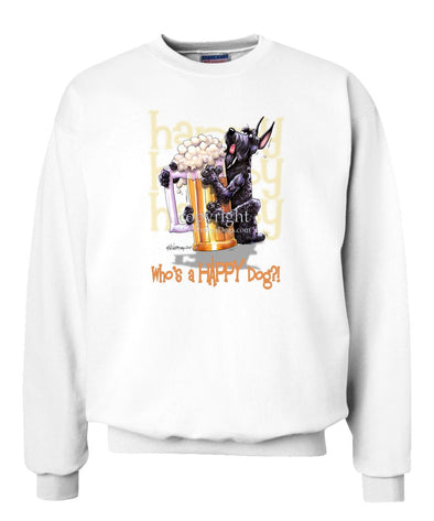 Giant Schnauzer - Who's A Happy Dog - Sweatshirt