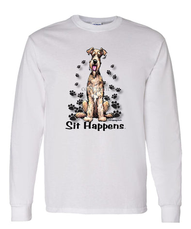 Airedale Terrier - Sit Happens - Long Sleeve T-Shirt