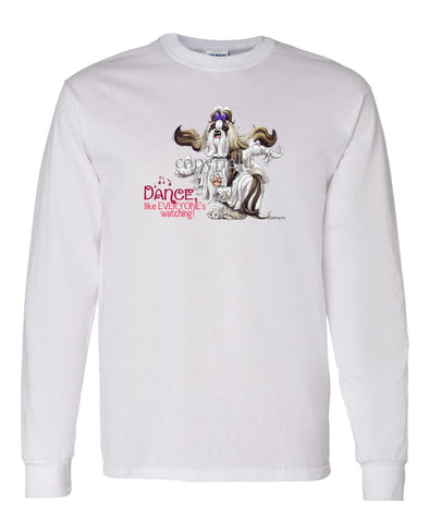 Shih Tzu - Dance Like Everyones Watching - Long Sleeve T-Shirt