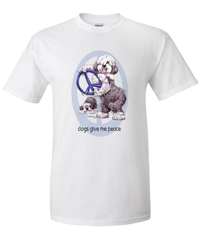 Old English Sheepdog - Peace Dogs - T-Shirt