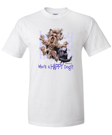 Yorkshire Terrier - Who's A Happy Dog - T-Shirt