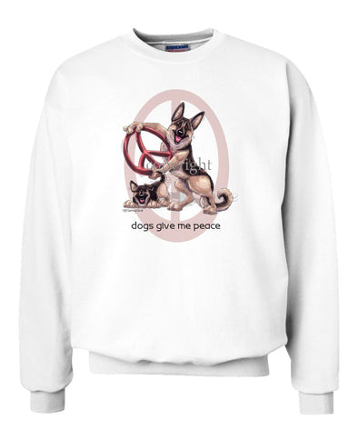 German Shepherd - Peace Dogs - Sweatshirt