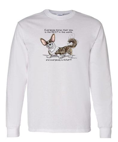 Welsh Corgi Cardigan - Best Dog in the World - Long Sleeve T-Shirt