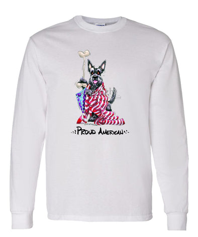 Scottish Terrier - Proud American - Long Sleeve T-Shirt