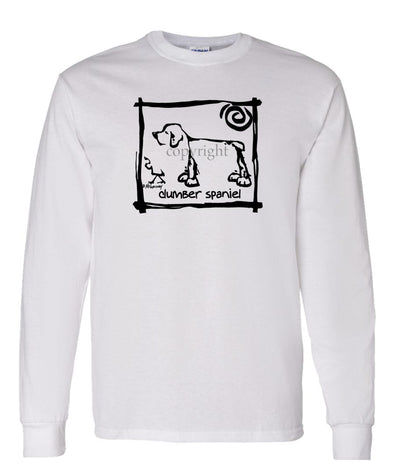 Clumber Spaniel - Cavern Canine - Long Sleeve T-Shirt