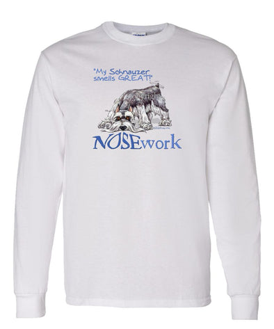 Schnauzer - Nosework - Long Sleeve T-Shirt