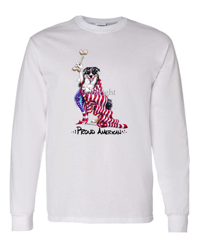 Australian Shepherd - Proud American - Long Sleeve T-Shirt