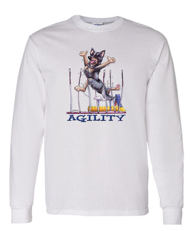 Australian Cattle Dog - Agility Weave II - Long Sleeve T-Shirt