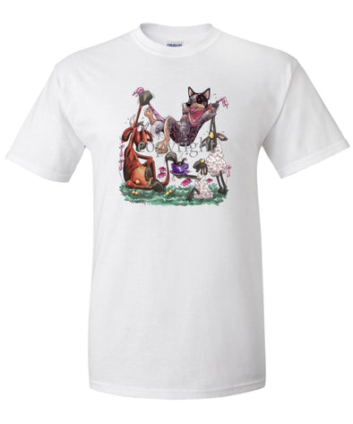 Australian Cattle Dog - Hammock - Caricature - T-Shirt