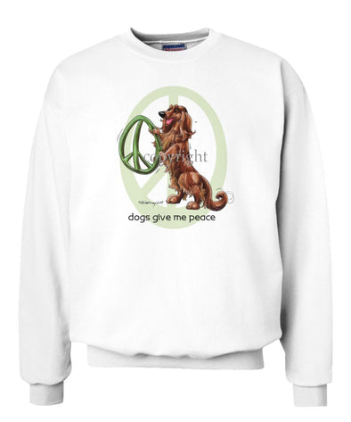 Dachshund  Longhaired - Peace Dogs - Sweatshirt