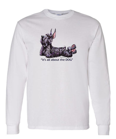 Giant Schnauzer - All About The Dog - Long Sleeve T-Shirt