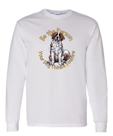 Saint Bernard - Be The Person - Long Sleeve T-Shirt