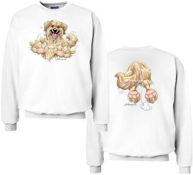 Golden Retriever - Coming and Going - Sweatshirt (Double Sided)