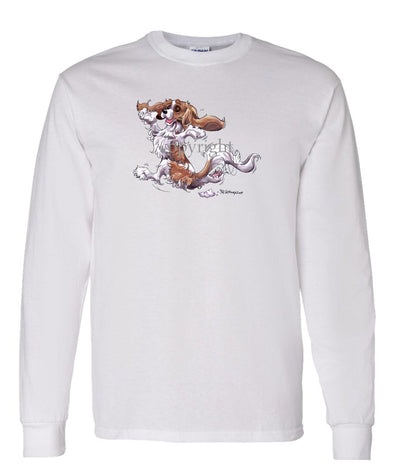 Cavalier King Charles  Blenheim - Happy Dog - Long Sleeve T-Shirt