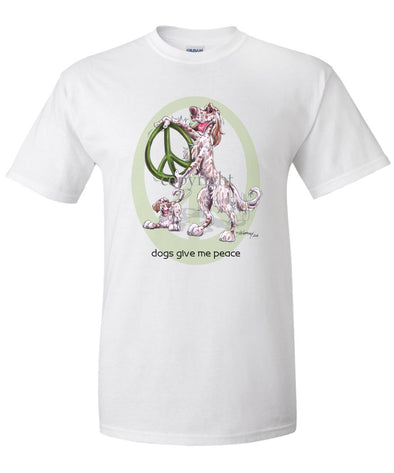 English Setter - Peace Dogs - T-Shirt